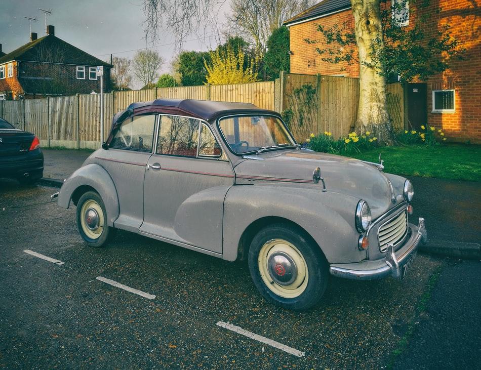 A photo of a classic car