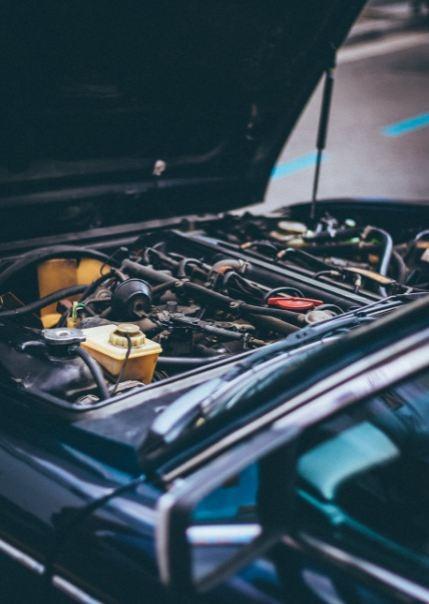 A photo of a car engine